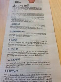 Mot nya mål. Artikel i GP 140525 av Anders Andersson