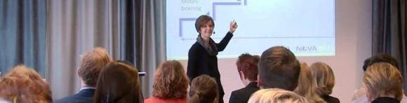 Ingrid Alestig, Novasell, föreläste på B2B-mässan i Helsingborg januari 2014