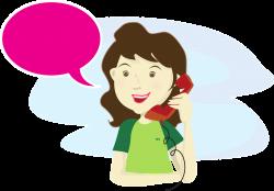 Telefonsamtal glad
