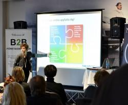 Ingrid Alestig föreläser på B2B-mässan i Örebro