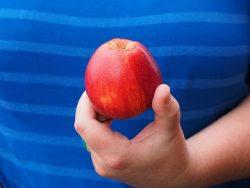 Äpple i hand