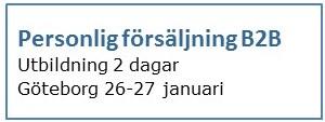 Utbildning personlig försäljning B2B Göteborg