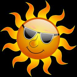 Sol med solglasögon