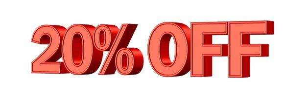 20 procent rabatt