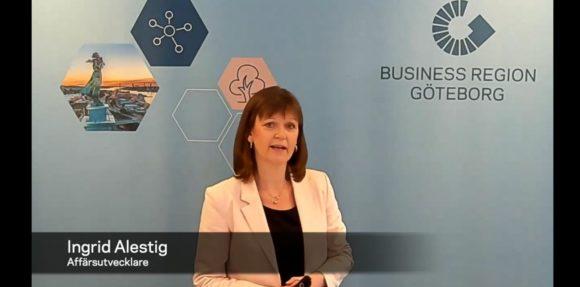 Ingrid Alestig håller webbinar för Business Region Göteborg
