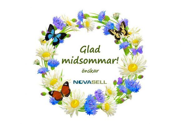 Blomsterkrans Glad midsommar önskar Novasell