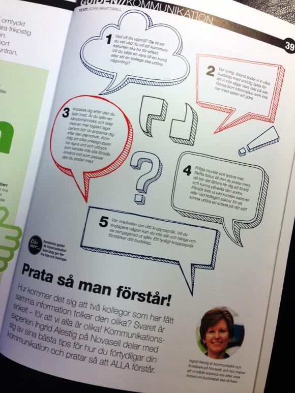 Prata så man förstår. Ingrid Alestig ger kommunikationstips i Swedavia Magazine.