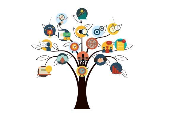 Träd som symboliserar affärsmodellen