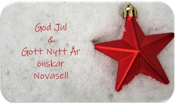 God jul och nytt år önskar Novasell