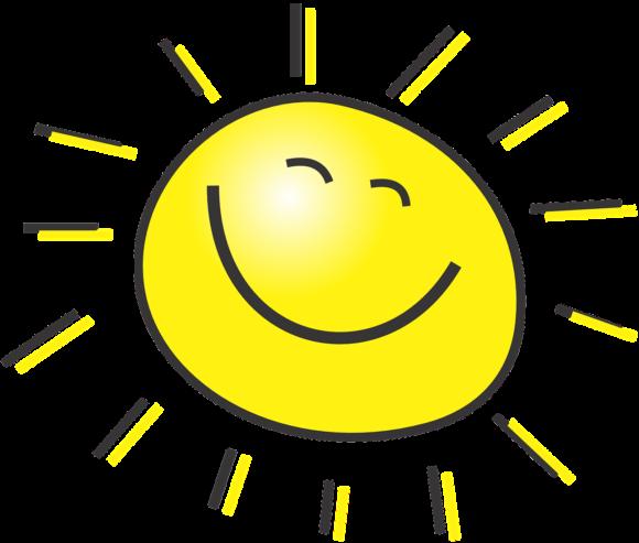 Glad och positiv sol