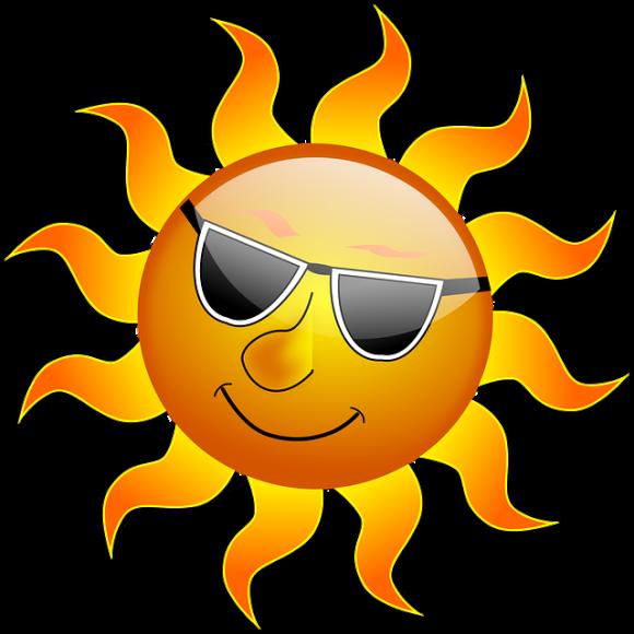 sol i solglasögon