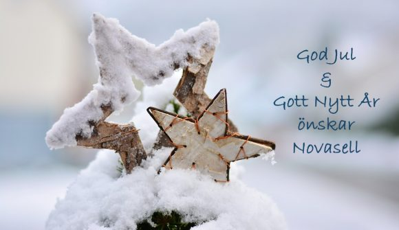 God jul och gott nytt år önskar Novasell